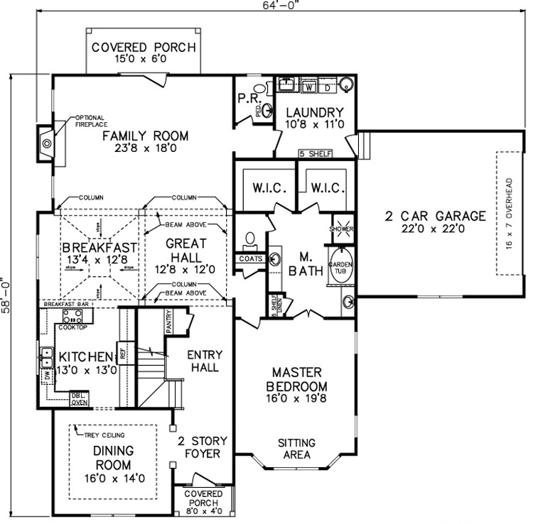 Southland custom homes print floorplan for Master bedroom with sitting area floor plan