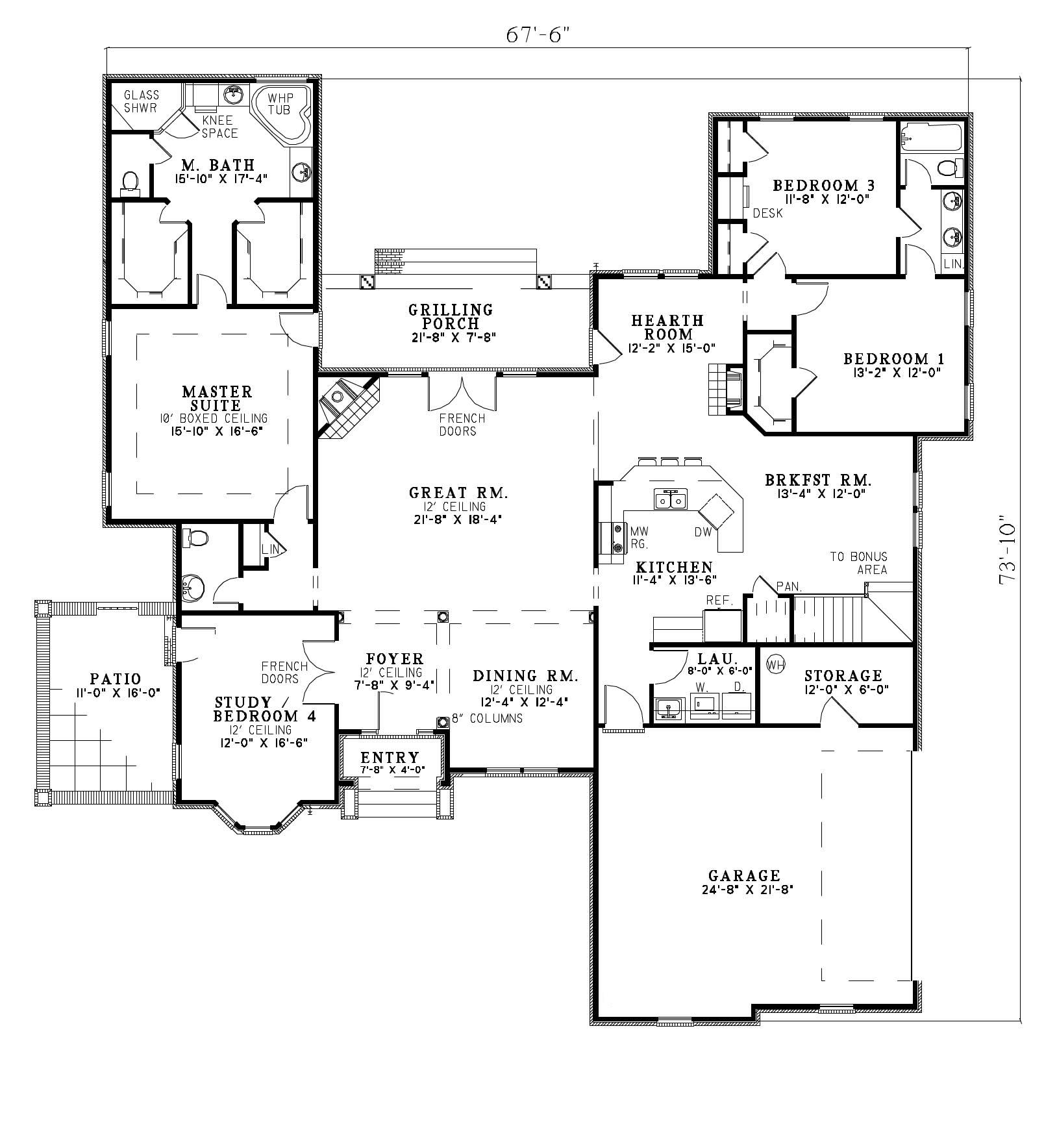 Southland custom homes on your lot home builders ga for Main street homes floor plans