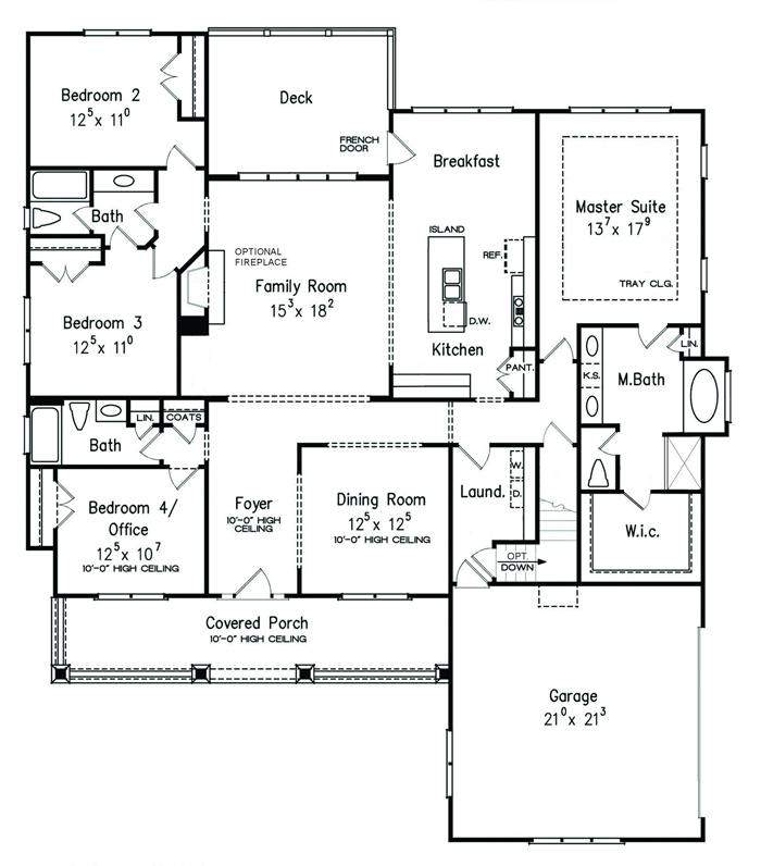 Southland custom homes on your lot home builders ga for Castle rock floor plans